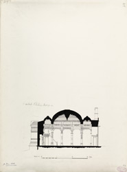 Ahmadabad: Haibat Khan's mosque, cross section